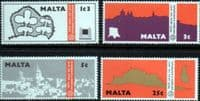 Malta 1975  Year Set Fine Mint