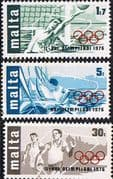 Malta 1976 Olympic Games Set Fine Mint