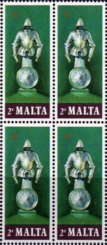 Malta 1977 Suits of Armour SG 572 Fine Mint Block of 4