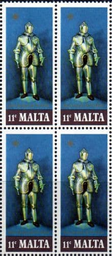 Malta 1977 Suits of Armour SG 574 Fine Mint Block of 4