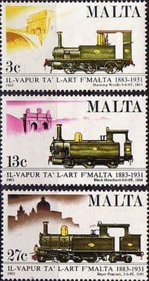 Malta Stamps 1983 Centenary of Malta Railway Set Fine Mint