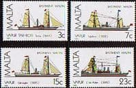 Malta 1985 Maltese Ships Set Fine Mint