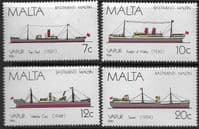 Malta 1986 Maltese Ships Set Fine Mint