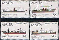 Malta 1986 Maltese Ships Set Fine Used