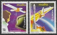 Malta 1991 Europa Europe in Space Set Fine Mint