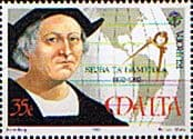 Postage Stamps Malta 1992 Europa Columbus and map of Americas Fine Mint SG 920 Scott 798