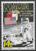 Malta 1994  First Manned Moon Landing Fine Mint