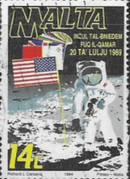 Malta 1994  First Manned Moon Landing Fine Used