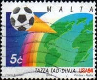 Malta 1994 World Cup Football Championship SG 965 Fine Used