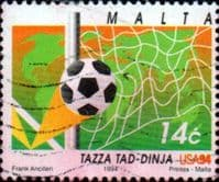 Malta 1994 World Cup Football Championship SG 966 Fine Used