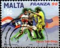 Malta 1998 World Cup Football Championship SG 1082 Fine Used