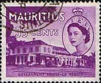 Mauritius 1953 SG 301 Government House Le Reduit Fine Used