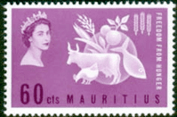 Mauritius 1963 Freedom From Hunger Fine Mint