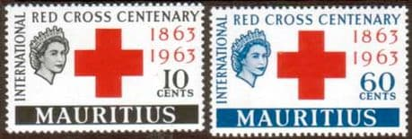 Stamps Mauritius 1963 Red Cross Centenary Fine Mint