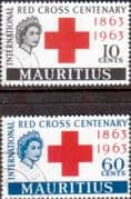 Mauritius 1963 Red Cross Centenary Set Fine Used