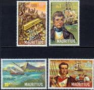 Mauritius 1972 Pirates and Privateers Set Fine Mint