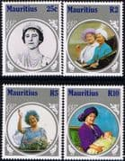 Mauritius 1985 Queen Mother Life and Times Set Fine Mint