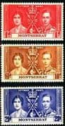 Montserrat 1937 King George VI Coronation Set Fine Mint