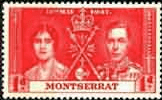 Montserrat 1937 King George VI Coronation SG 98 Fine Mint