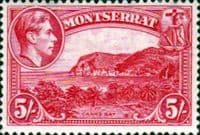 Montserrat 1938 King George VI SG 110a Carrs Bay Fine Mint