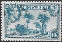 Montserrat 1938 King George VI SG 111a Carrs Bay Fine Mint