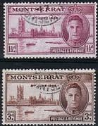 Montserrat 1946 King George VI Victory Set Fine Used