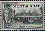 Montserrat 1951 King George VI SG 123 Government House Fine Mint