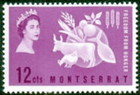 Montserrat 1963 Freedom From Hunger Fine Mint
