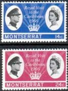 Montserrat 1966 Caribbean Royal Visit Set Fine Mint