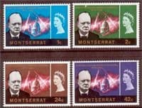 Montserrat 1966 Churchill Set Fine Mint