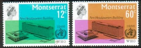 Postage Stamps Montserrat 1966 World Health Organisation Set Fine Mint