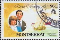 Montserrat 1981 Charles and Diana Royal Wedding SG 510 Fine Used