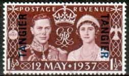 Morocco Agencies 1937 King George VI Coronation Tangier Stamps