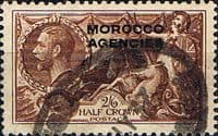 Morocco Agencies British Currency 1914  SG 50 Fine Used