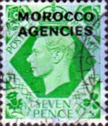 Morocco Agencies British Currency 1949 King George VI SG 86 Good Used