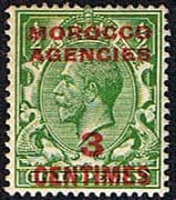 Morocco Agencies French Currency 1917 SG 191 King George V Fine Mint