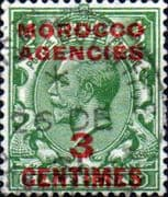 Morocco Agencies French Currency 1917 SG 191 King George V Fine Used