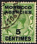 Morocco Agencies French Currency 1917 SG 192 King George V Fine Used