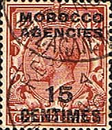Morocco Agencies French Currency 1917 SG 194 King George V Fine Used
