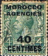 Morocco Agencies French Currency 1917 SG 196 King George V Fine Used