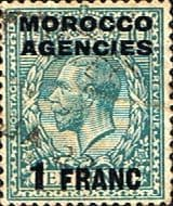 Morocco Agencies French Currency 1917 SG 199 King George V Fine Used