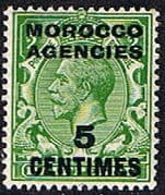 Morocco Agencies French Currency 1925 SG 202 George V Fine Mint