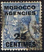 Morocco Agencies French Currency 1925 SG 205 King George V Fine Used