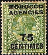 Morocco Agencies French Currency 1925 SG 208 King George V Fine Used