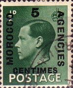 Morocco Agencies French Currency 1936 Edward VIII SG 227 Fine Used