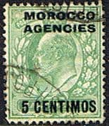 Morocco Agencies Spanish Currency 1907 SG 112 Fine Used