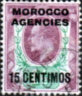 Morocco Agencies Spanish Currency 1907 SG 114a King Edward VII Fine Used