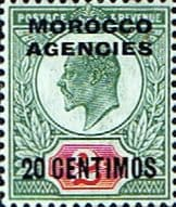 Stamp Stamps Morocco Agencies Spanish Currency 1907 SG 115 King Edward VII Fine Mint Scott 37