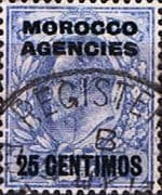 Morocco Agencies Spanish Currency 1907 SG 116 King Edward VII Fine Used