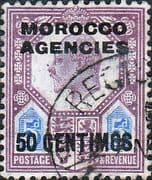 Morocco Agencies Spanish Currency 1907 SG 119 King Edward VII Fine Used
